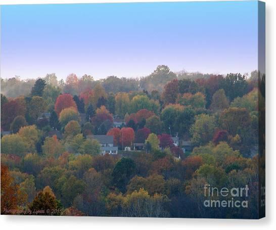 Hazy Autumn Canvas Print