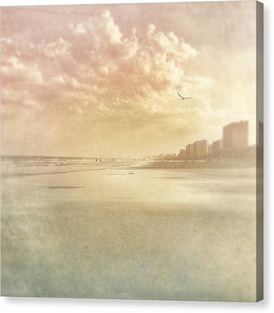 Hazy Day At The Beach Canvas Print