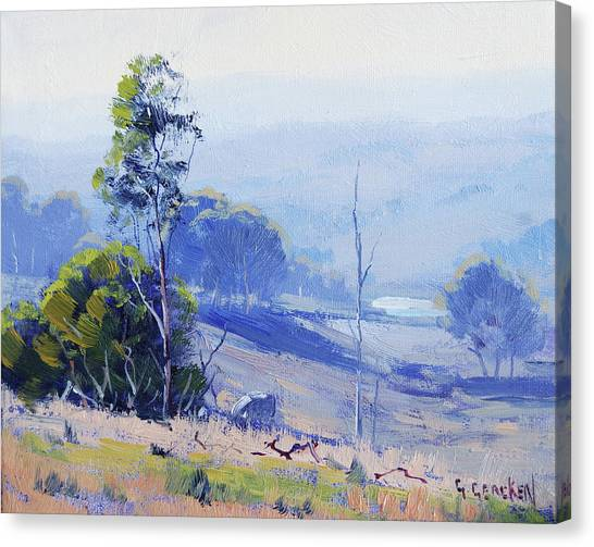 Beautiful Nature Canvas Print - Hazy Light Mudgee by Graham Gercken