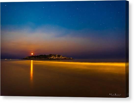 Hazy Moonrise Canvas Print