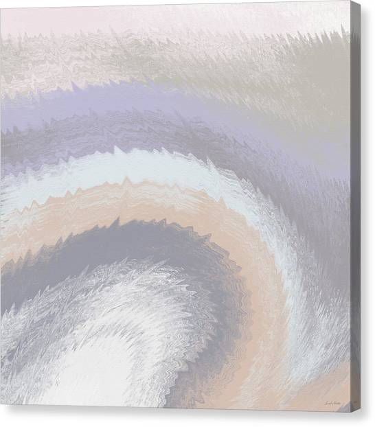 Oysters Canvas Print - Hazy Morning- Abstract Art By Linda Woods by Linda Woods