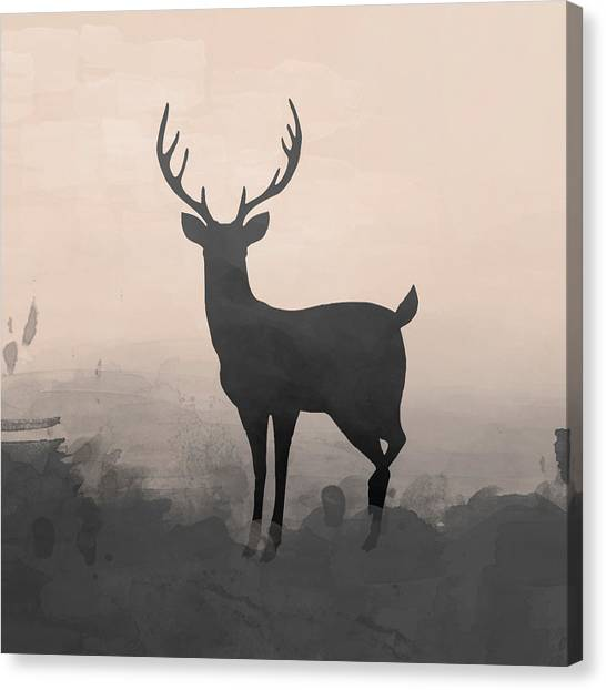 Canvas Print - Silhouette Stag 2 by Amanda Lakey