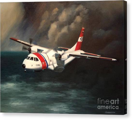 Coast Guard Canvas Print - Hc-144a by Stephen Roberson