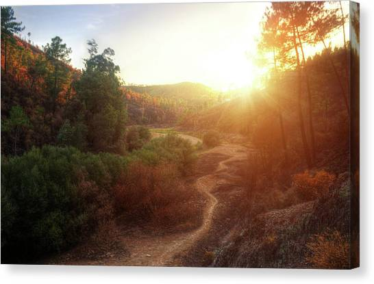 Mountain Sunsets Canvas Print - Hdr Landscape by Carlos Caetano