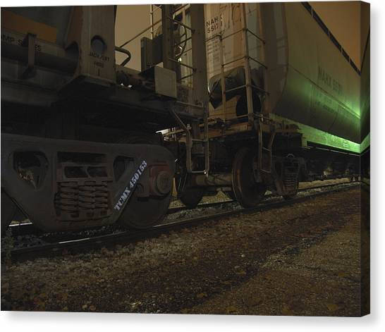 Hdr Rail Cars Canvas Print by Scott Hovind