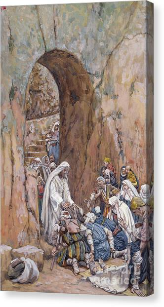 Sick Canvas Print - He Did No Miracles Save That He Healed Them by Tissot