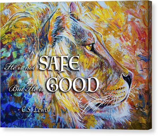He Is Not Safe But He Is Good Canvas Print