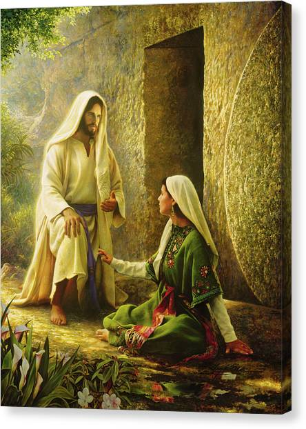 Mary Canvas Print - He Is Risen by Greg Olsen