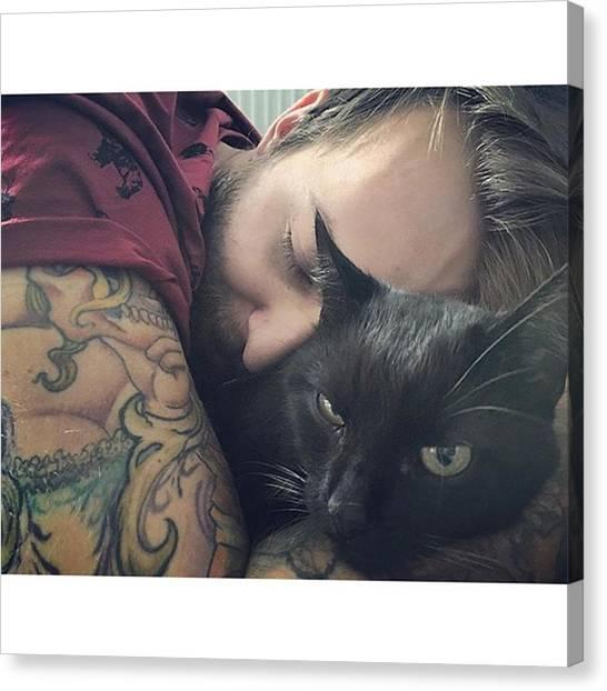 Panthers Canvas Print - He Loves Me :d 🐾🐈 by Jakub Mandelik