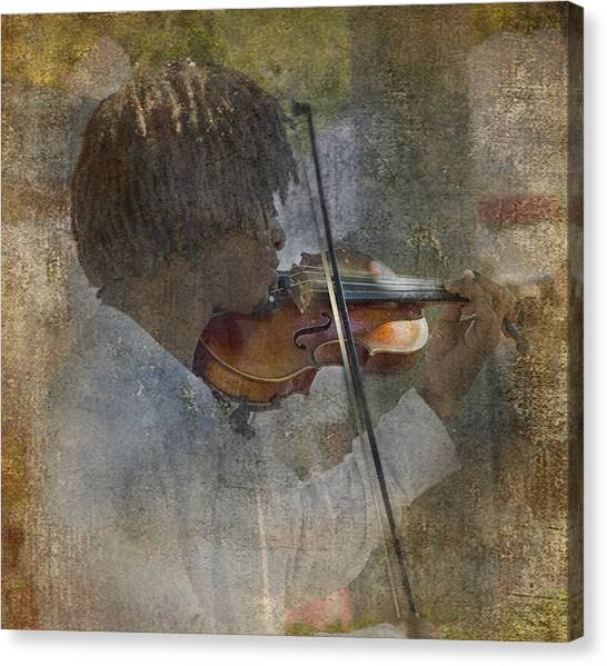 Sublime Canvas Print - He Plays At The Market II by Rebecca Cozart