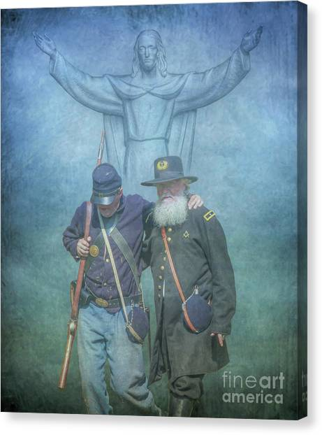 Us Civil War Canvas Print - He Watches Over Us by Randy Steele