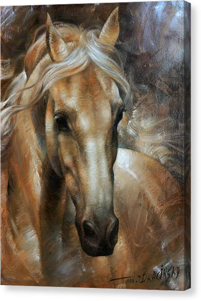 Head Canvas Print - Head Horse 2 by Arthur Braginsky