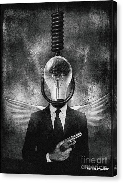 Head Like A Hole Canvas Print by Remedysains