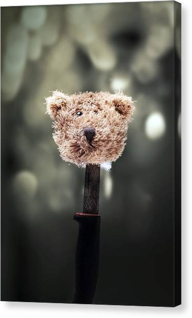 Teddybear Canvas Print - Head Of A Teddy by Joana Kruse