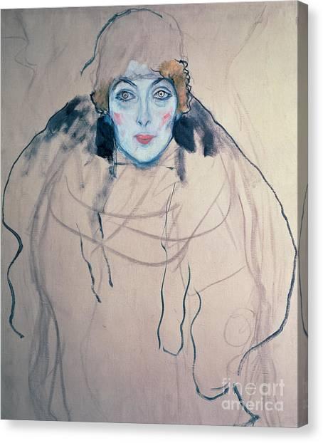 Gustav Klimt Canvas Print - Head Of A Woman by Gustav Klimt