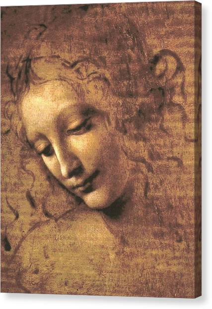 Head Of A Woman Canvas Print