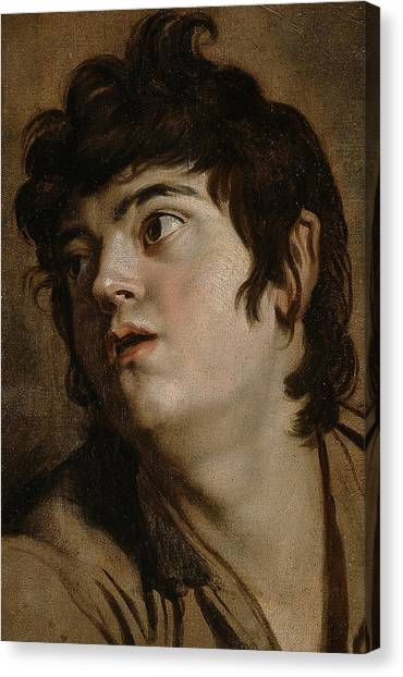 Baroque Art Canvas Print - Head Of A Young Man by Peter Paul Rubens