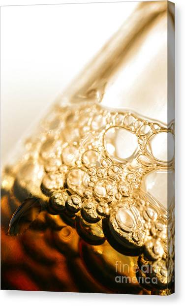 Pint Glass Canvas Print - Head Of Beer by Jorgo Photography - Wall Art Gallery