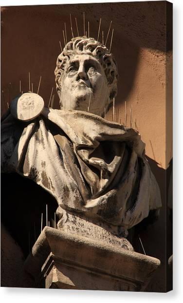 Head Of Nero In Venice Canvas Print by Michael Henderson
