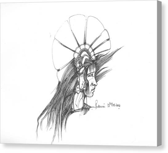 Head Canvas Print by Padamvir Singh