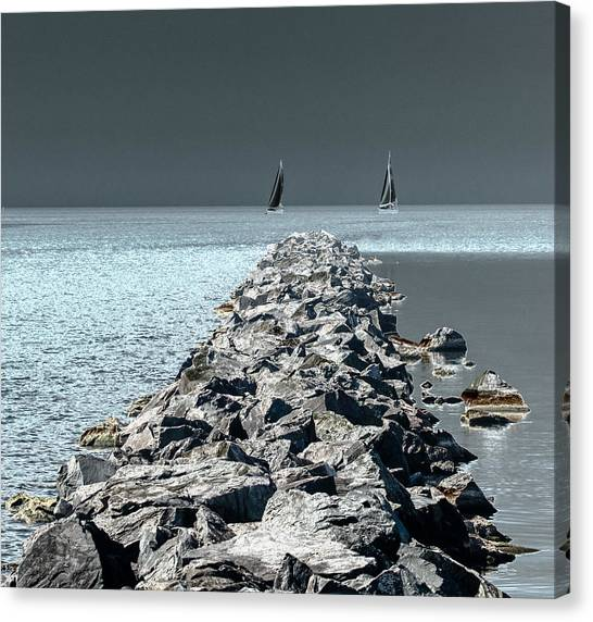 Headed For The Rocks Canvas Print