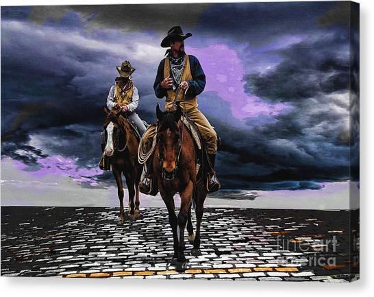 Headed Home Canvas Print