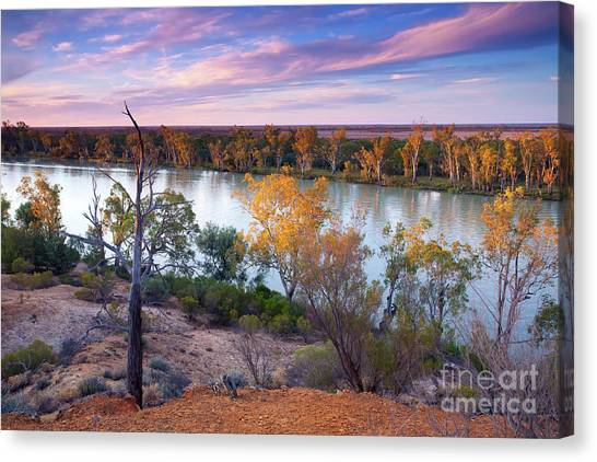 Heading Cliffs Murray River South Australia Canvas Print