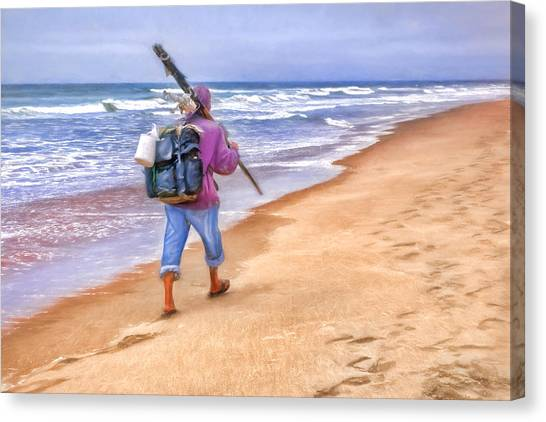 Fishing Canvas Print - Heading Home - Ocean Fisherman by Nikolyn McDonald