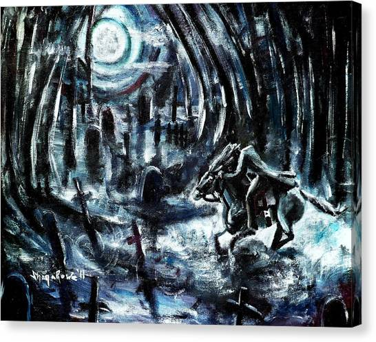 Headless In The Hollow Canvas Print