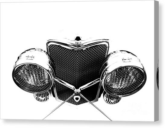 Canvas Print featuring the photograph Headlights by Stephen Mitchell
