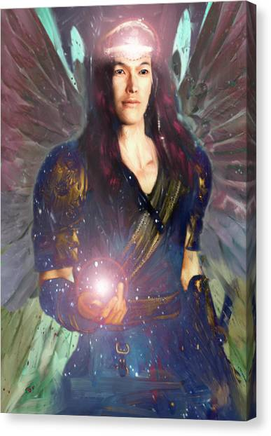 Healing Angel/raphael Canvas Print