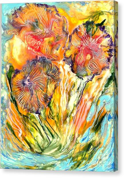 Healing Blossoms For Heather Ward Canvas Print by Heather Hennick