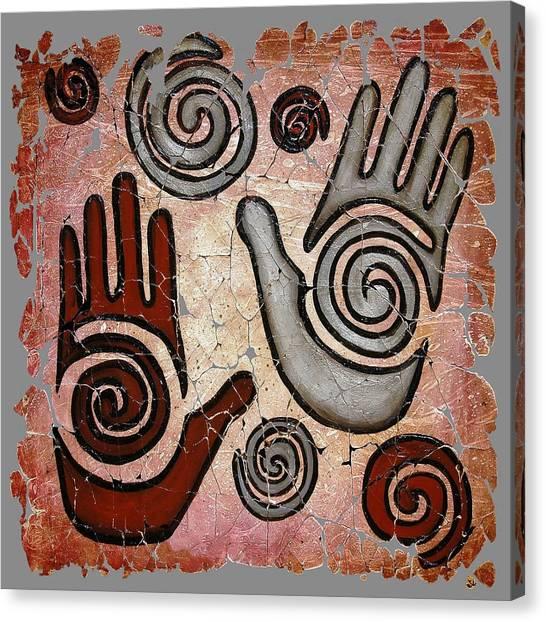 Healing Hands Fresco  Canvas Print