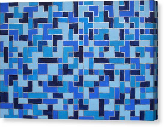 Tetris Canvas Print - Nervous System Recalibration - Healing Images by Sabina Jandura