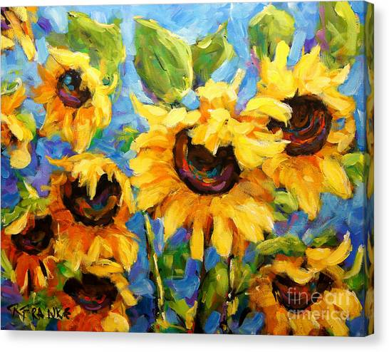 Quebec Canvas Print - Healing Light Of Sunflowers by Richard T Pranke