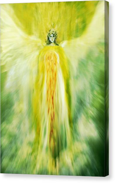 Healing With Golden Light Canvas Print
