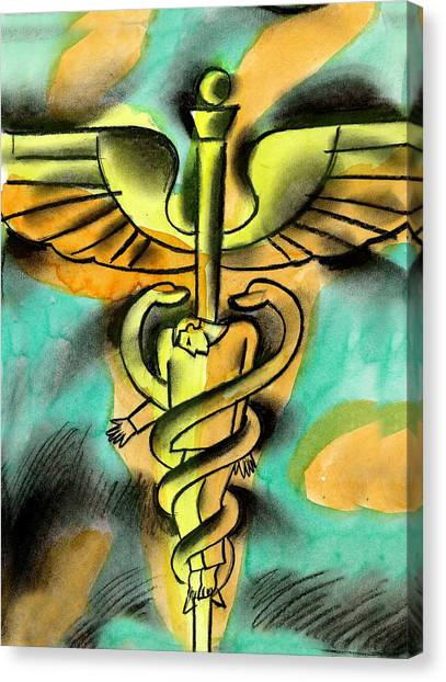 Health Insurance Canvas Print - Healthcare And Expense by Leon Zernitsky