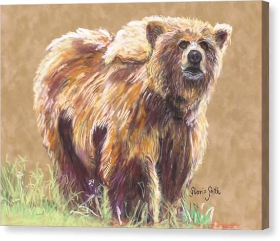 Healthy Brown Bear Canvas Print by Gloria Smith
