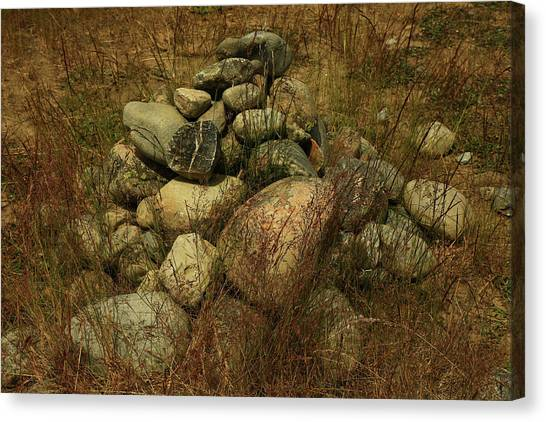 Heap Of Rocks Canvas Print