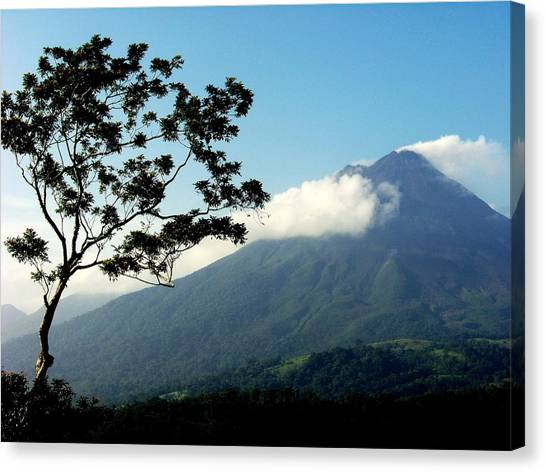 Arenal Volcano Canvas Print - Hear The Winds Blow by Karen Wiles
