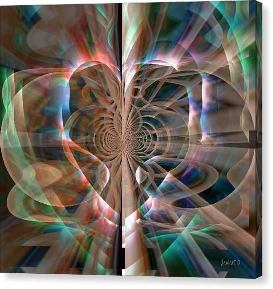Heart Born To Love Canvas Print by Fania Simon