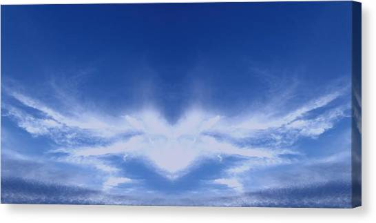 Heaven Canvas Print - Heart Cloud by Kimberly  W