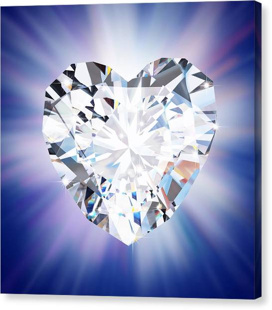 Heart Diamond Canvas Print