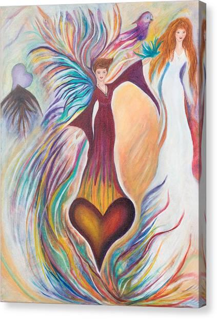 Heart Goddess Canvas Print by Leti C Stiles