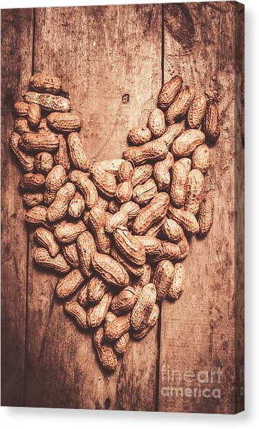 Heart Shape Canvas Print - Heart Health And Nuts by Jorgo Photography - Wall Art Gallery