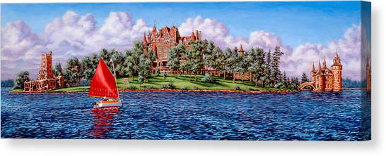 Boldt Castle Canvas Print - Heart Island by Richard De Wolfe
