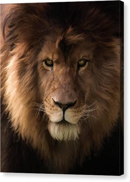 Heart Of A Lion - Wildlife Art Canvas Print