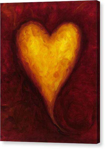 Heart Canvas Print - Heart Of Gold 1 by Shannon Grissom