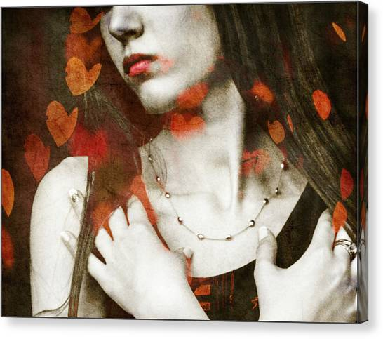 Lovers Canvas Print - Heart Of Gold by Paul Lovering