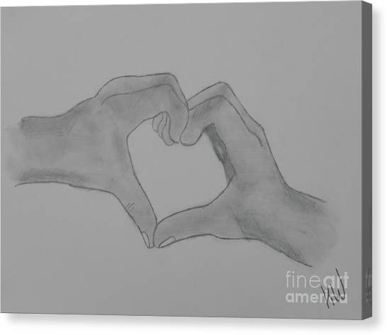 Fineart Canvas Print - Heart Of Hands by Jennifer White